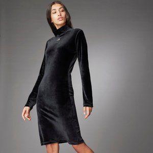 Adidas H25086 Turtleneck Velour Dress Black